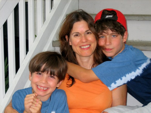 Happy Thanksgiving! Me with my two boys (taken a few years ago, at least!)