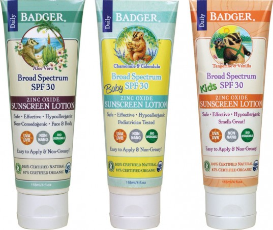 Badger Sunscreens: One of the top rated safe sunscreens for the family by EWG