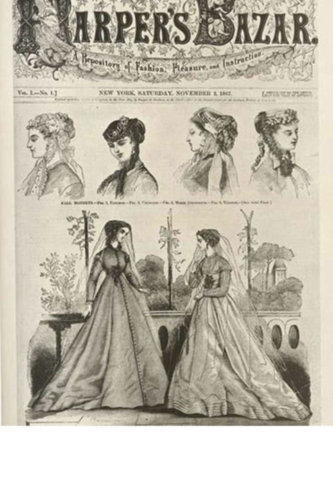 1867: The first issue of Bazaar, devoted to fashion and literature, is published on November 2.