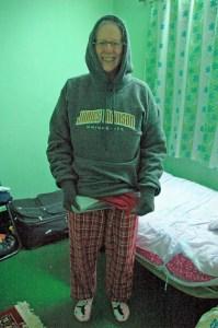 Preparing for bed in Nepal