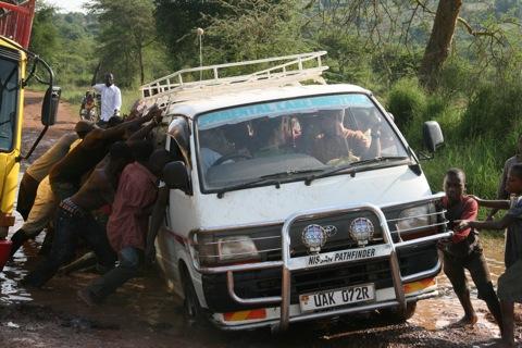 stuck-van