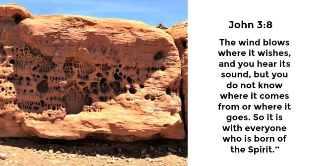 desert rock eroded by the wind over many years