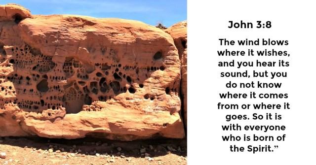 John 3:8 A drive through the desert blog by Yvonne