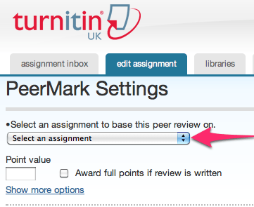 PeerMark Settings
