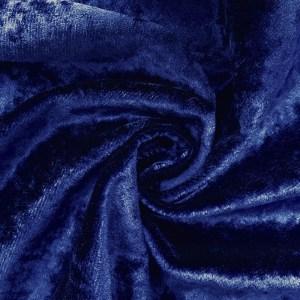 Pipe Pocket Sapphire Blue Panne Crushed Blue Velvet Sample Swatch For Turn of Events Rental Drapery Las Vegas