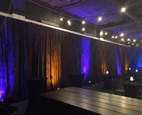 Uplit Purple Crush Velour / Velvet Drapery at an Event From Turn of Events Las Vegas Rental Drapery