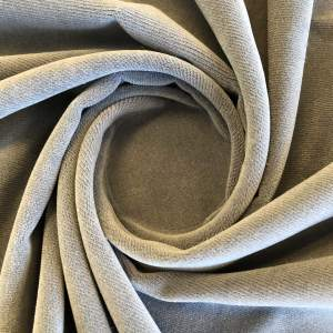 Pipe Pocket Light Gray Velour Gray Velvet Sample Swatch For Turn of Events Rental Drapery Las Vegas