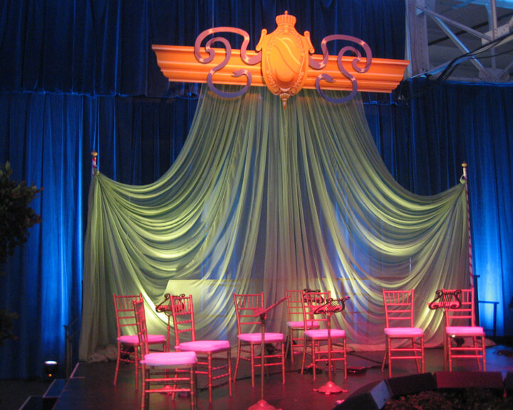Sheer Voile Chiffon Drapery Accent Décor Panel for a private event from Turn of Events Las Vegas