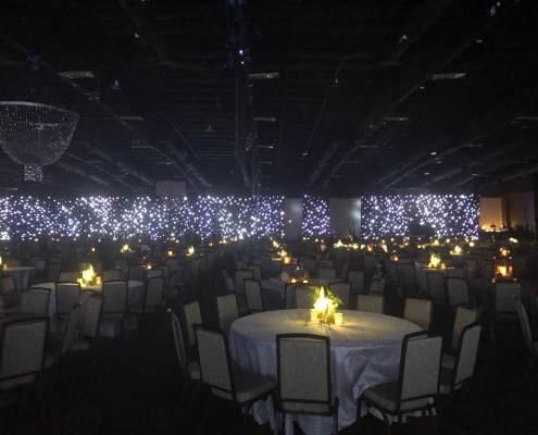 LED Star Drop / Star Curtain Full Perimeter Drapery at a Las Vegas Event From Turn of Events Las Vegas Rental Drapery