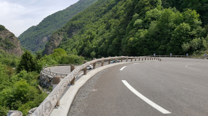 The hairpins taking us up the mountain