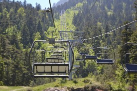 The chairlift up to Lac du Gaube
