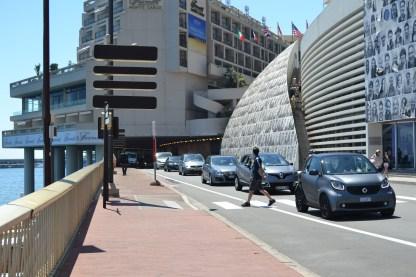 Outside the grand prix tunnel