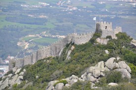 View of the Moorish Castle from Pena Palace