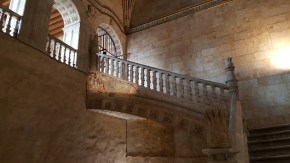 Stairs with the sculpture of Mary Magdalene