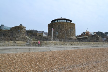 Sandgate Castle from the beach