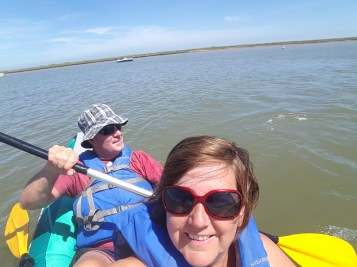 Finally out on the kayak