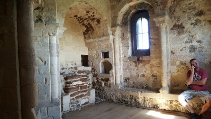 The chapel in Orford Castle. The windows always had glass...