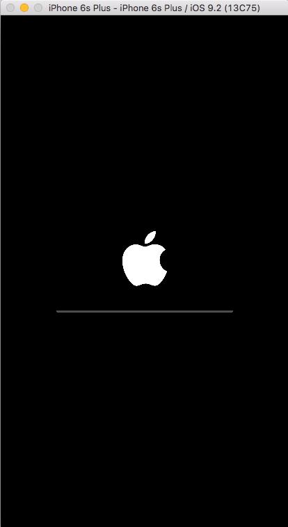 iOS Simulator booting screen