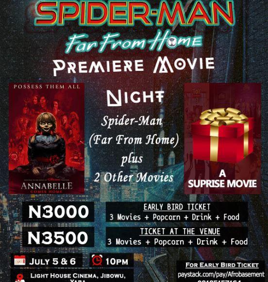 Spider Man Premiere Movie Night Show