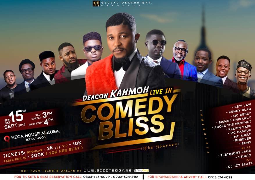 Deacon Kahmoh Live in Comedy Bliss