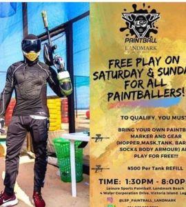 Free Paintballing