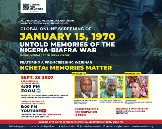 JANUARY 15, 1970: UNTOLD MEMORIES OF THE BIAFRA WAR