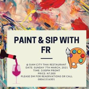 Paint & Sip With FR
