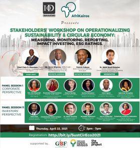 Stakeholder Workshop On Operationalizing Sustainability & Circular Economy