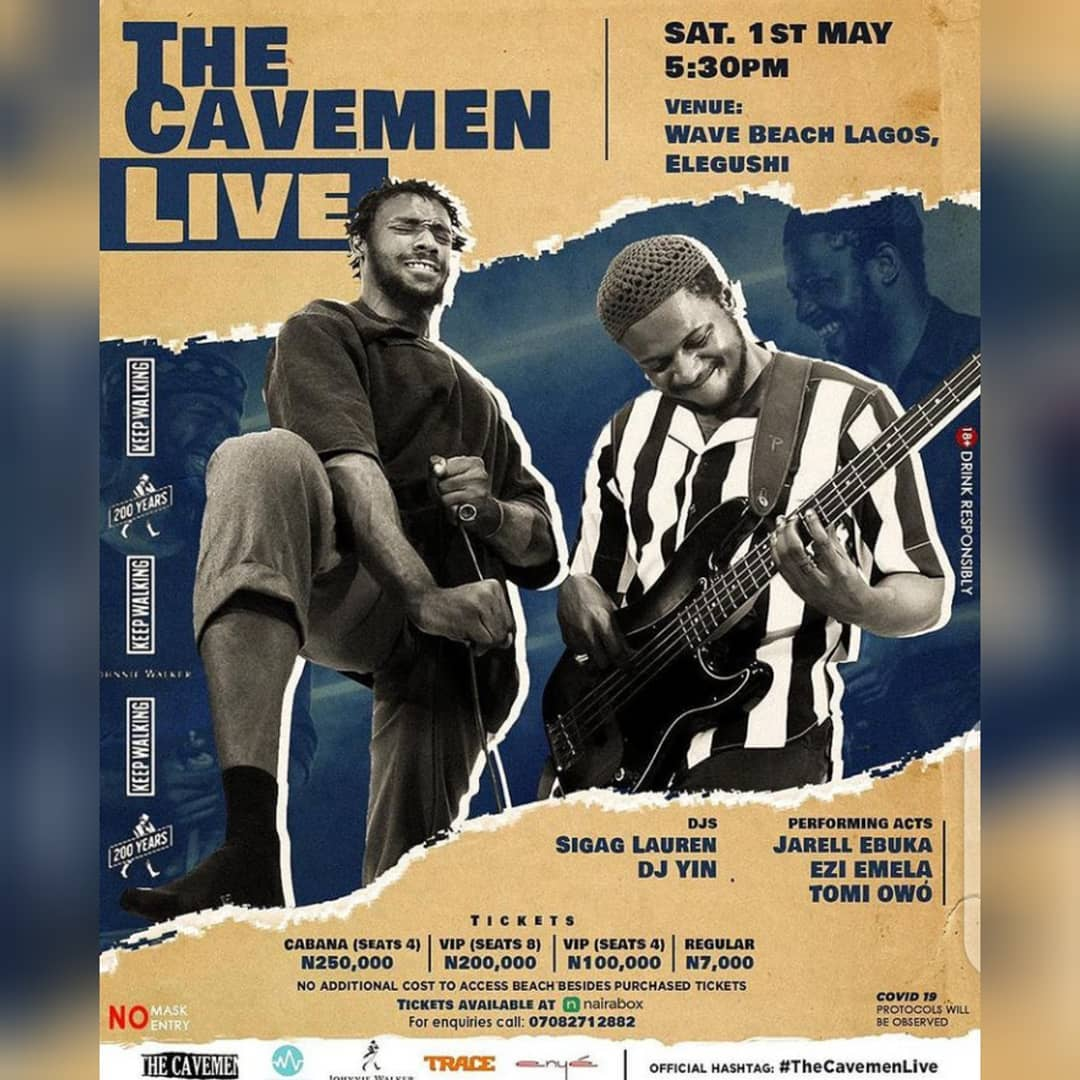 The Cavemen Live