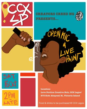 Open Mic & Live Painting