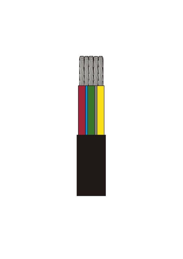 Kabel RKKB 7x1.5 svart