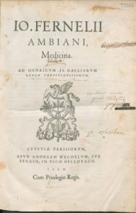 Fernel Medicina 1581