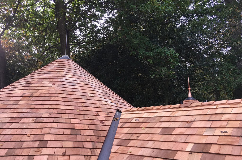 Cedar Tiled Bespoke Conical Roof Turpin Roofing