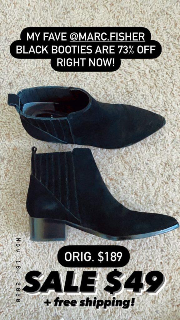 black booties on sale