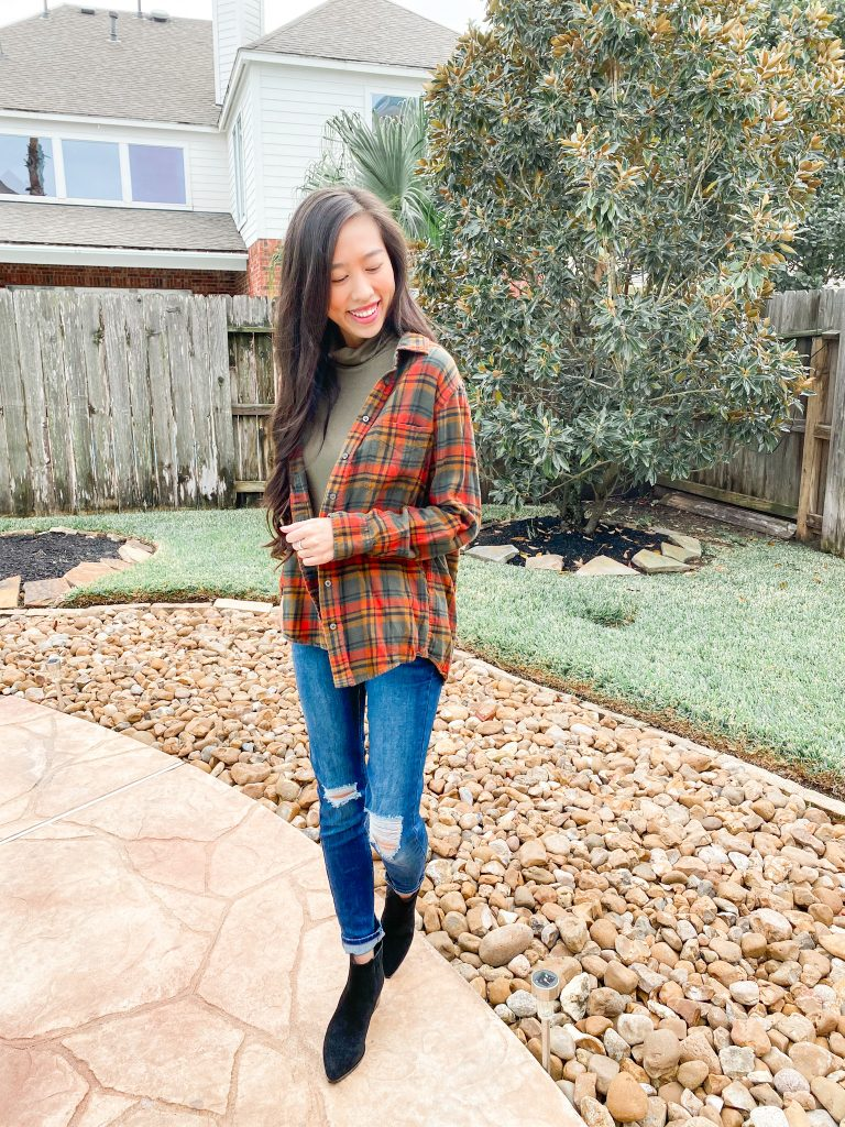 fall flannel outfit idea
