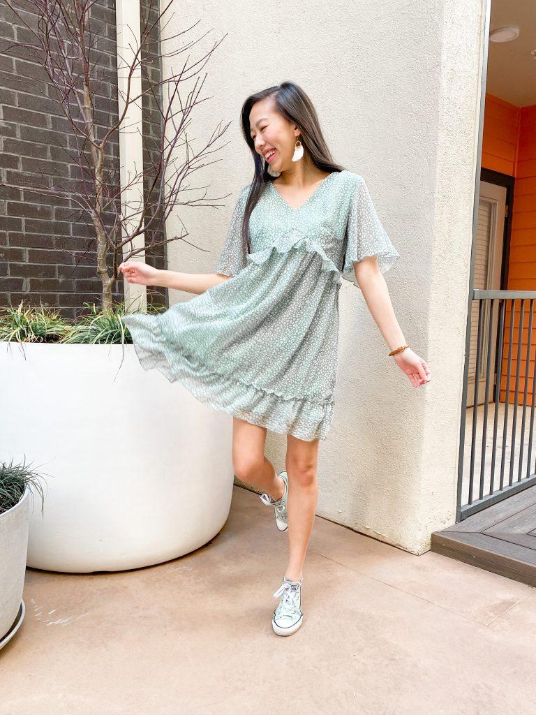flowy mint dress