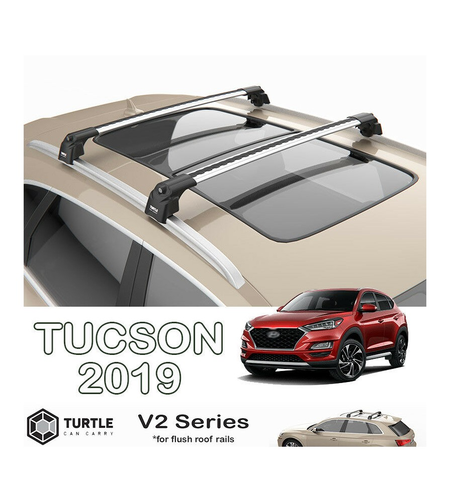 hyundai tucson turtle roof bars racks set upper t track with quickacces