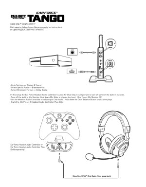 Tango  Xbox One Setup Diagram – Turtle Beach
