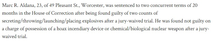 Not Guilty Incendiary Device