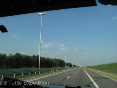 Modern Belgium highways were a dream to drive.