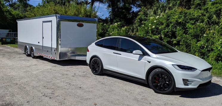Blanche taking her new garage home.