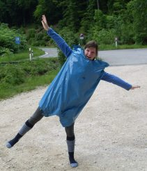 dance in a garbage bag