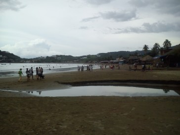 the beach during public holiday