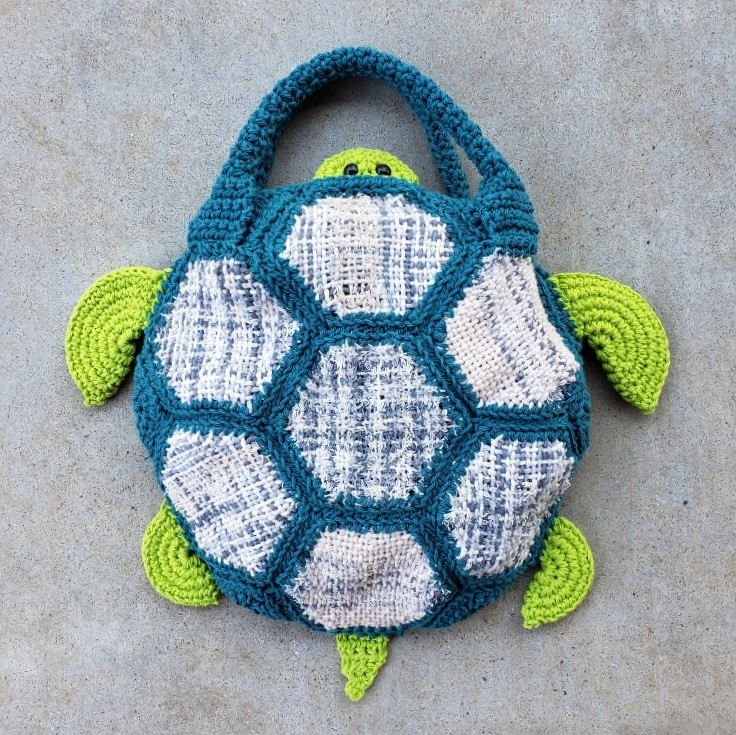 Crochet AND WEAVE a Turtle Tote – TURTLE Looms – Hexagon Pin