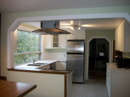 Back view from dining area of kitchen