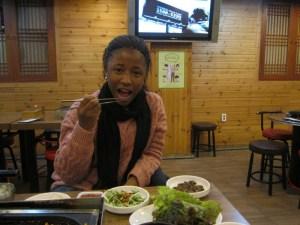 Chanel eating Korean food (1)