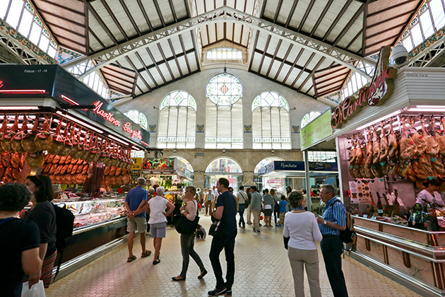 The Mercat Central in Valencia, one of the most beautiful markets I have visited.