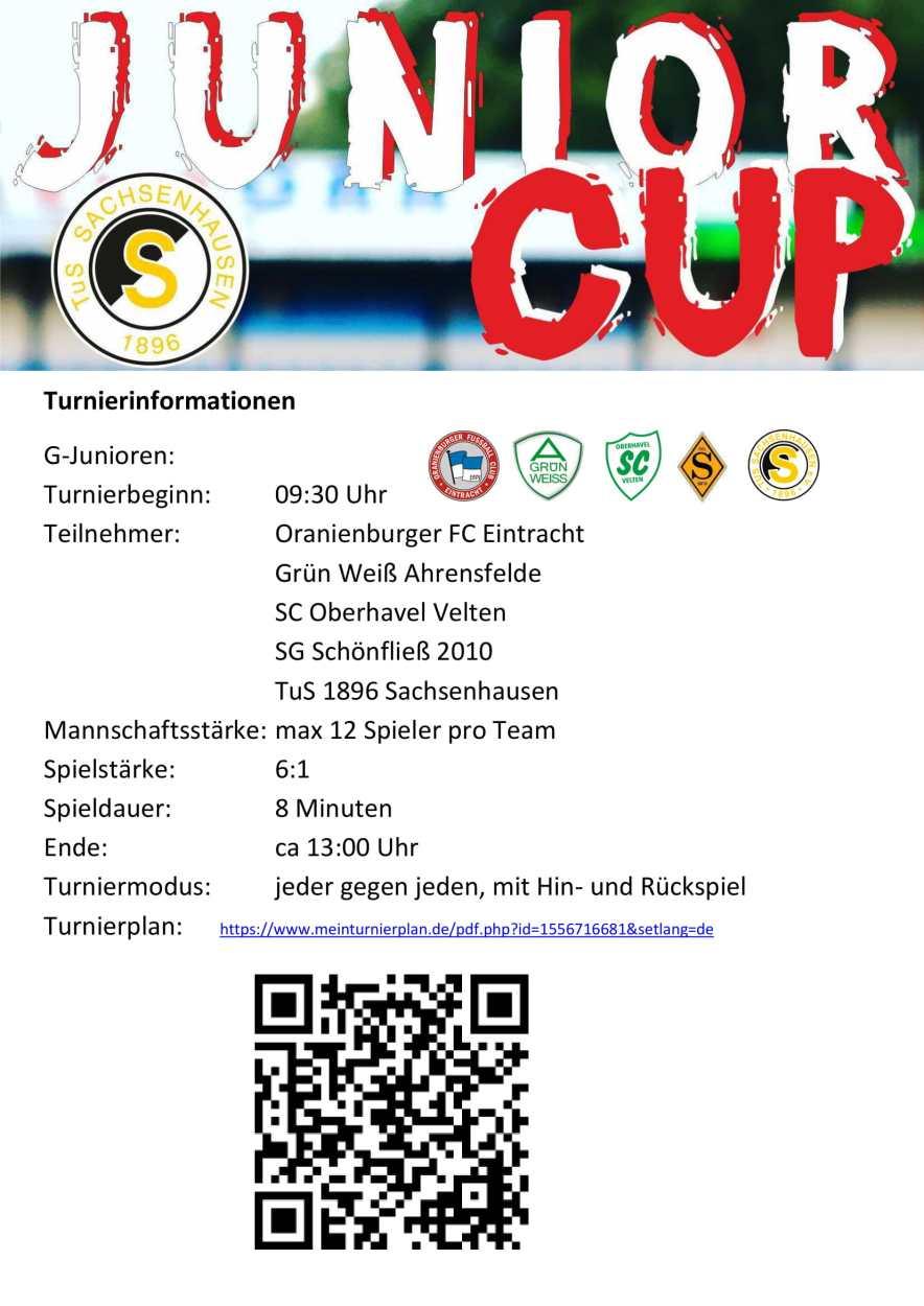 Turnier Informationen G-Junioren-1
