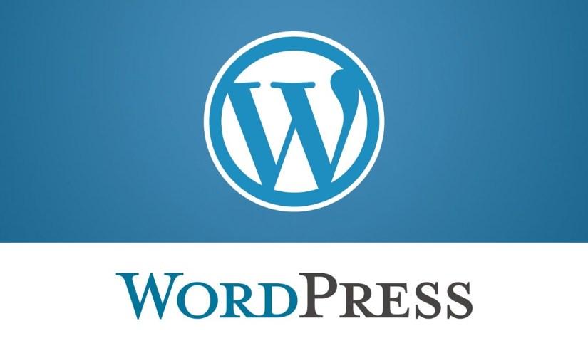 WordPress : Welcome back !