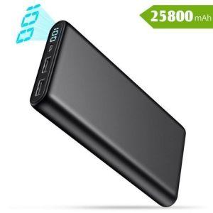 Batería Externa con 2 USB color negro